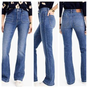 J Crew Full-Length Demi Boot Jeans High Waist 28